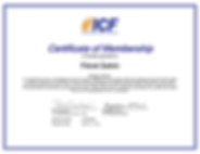 ICF Certificate of Membership