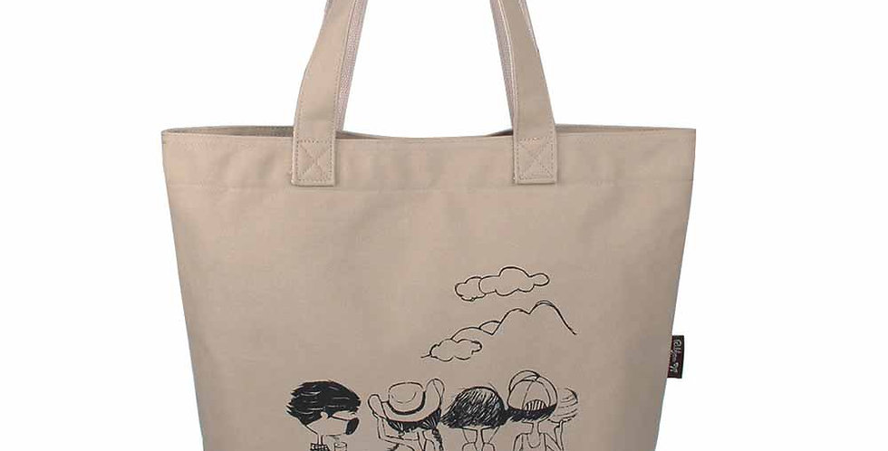 Originial canvas color silkscreen canvas big bag
