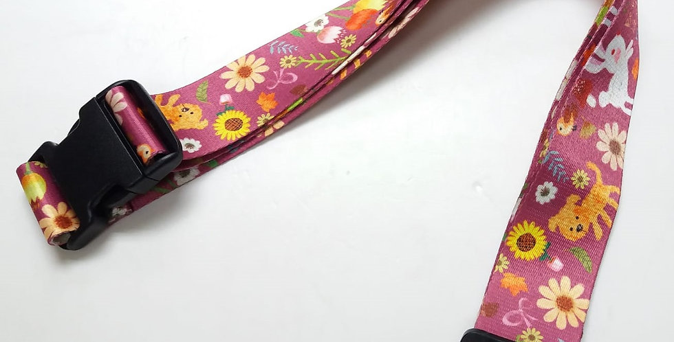 Cute Rabbits Unique and colorful patterns luggage strap