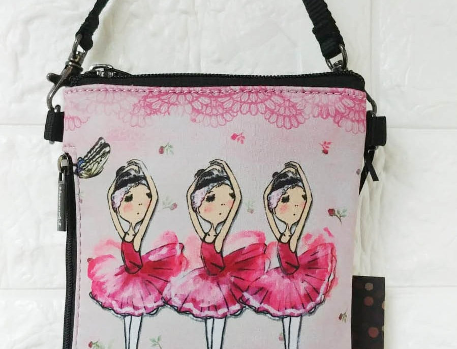 Pinky Ballerinas - phone pouch