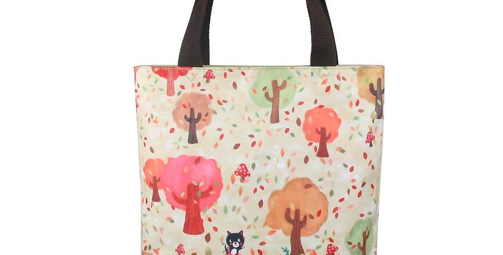 Dancing in the forest - casual tote bag(water proof coated canvas)