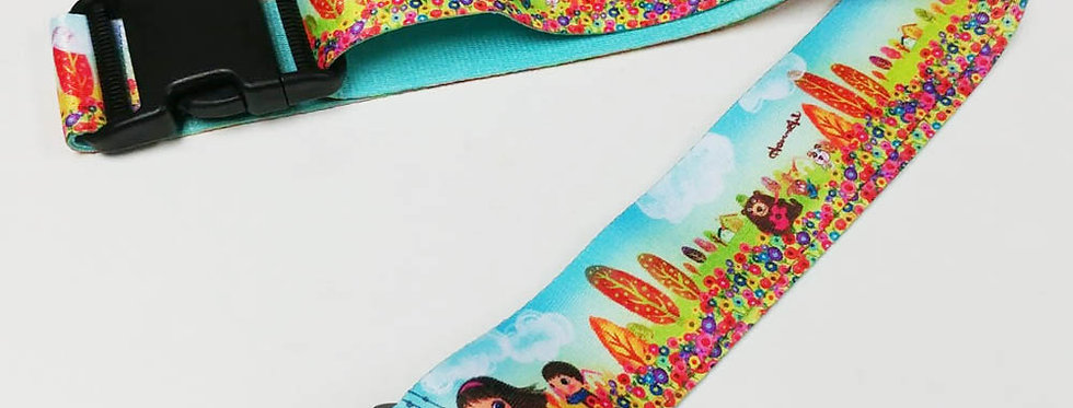 Happy friendship Unique and colorful patterns luggage strap