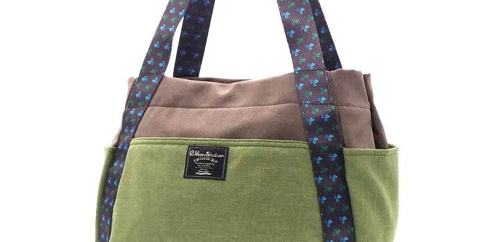 Shoulder Strap design Nylon bag –  Floral pattern design