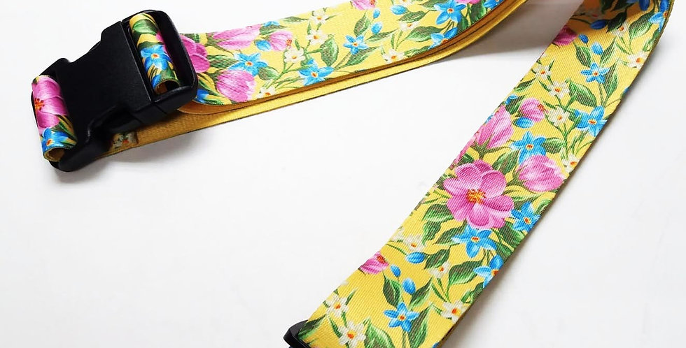 Flower main theme Unique and colorful patterns luggage strap