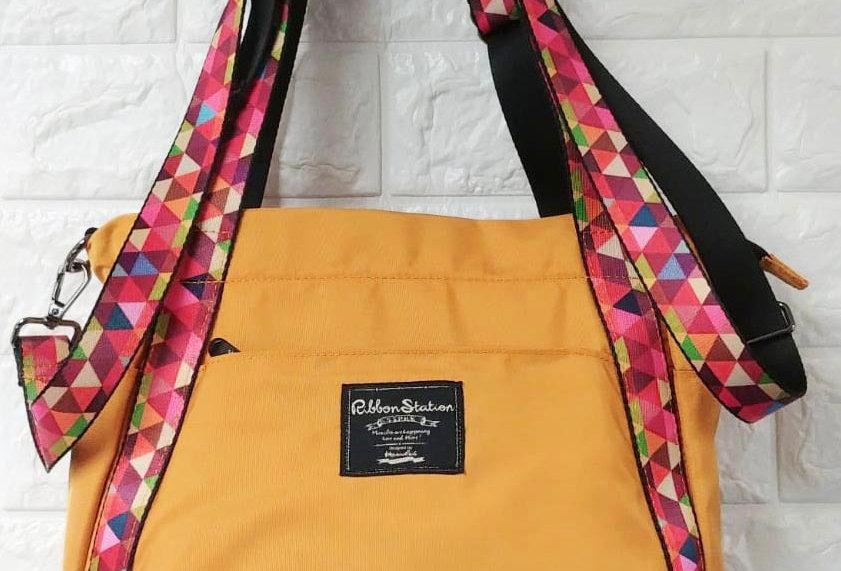 Mustard yellow medium 3 ways bags