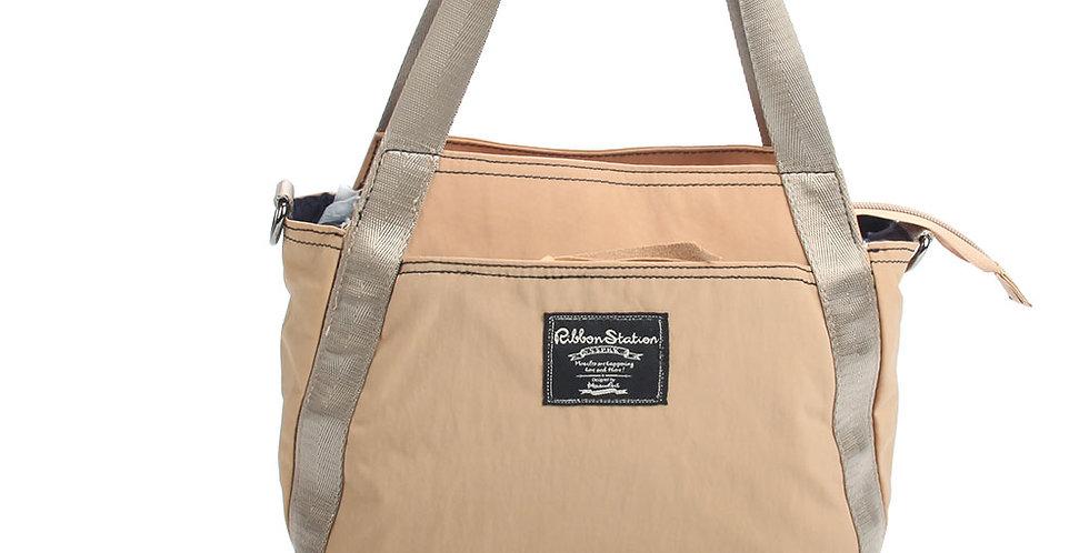 Khaki Nylon 2ways handbag