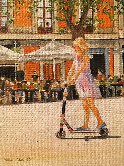"""""""Plaça del Diamant"""" Original Oil Painting"""