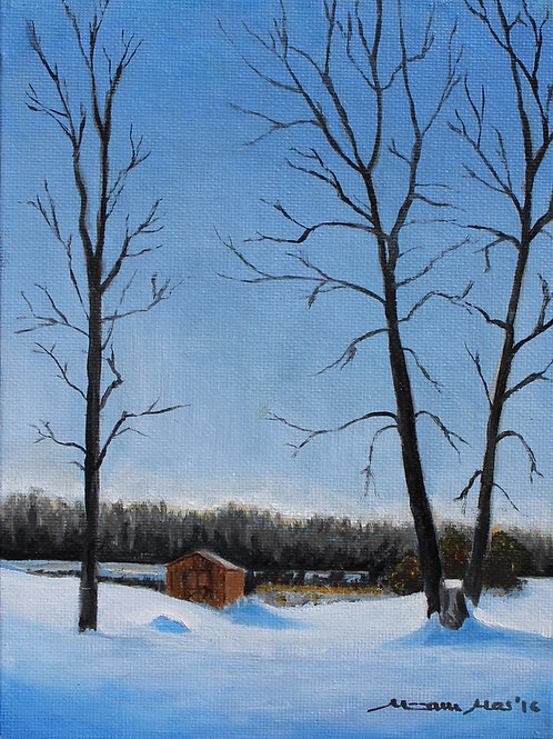 """Winter Blues"" Original Oil Painting"