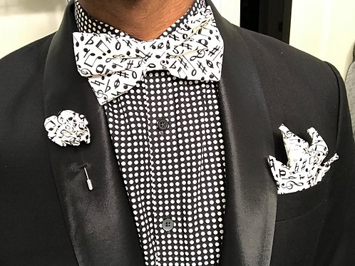Music Note Bow Tie Set