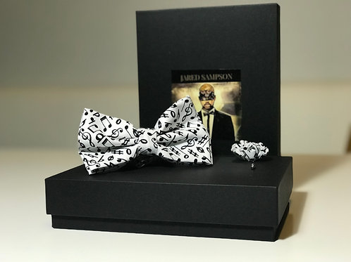 Music Notes Bow Tie Set (pre-tied)