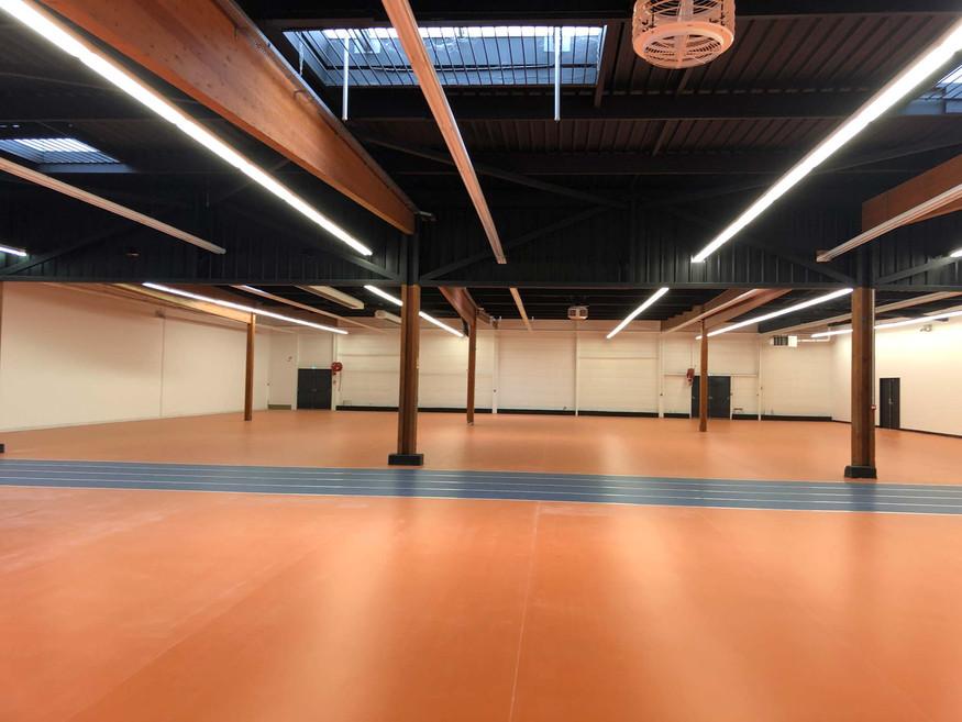 Vue intérieure du centre omnisport