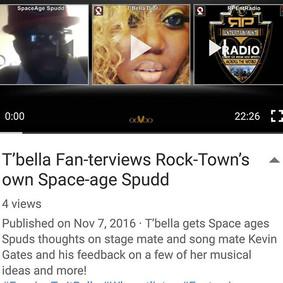 T'bella Fan-terviews Rock-Town's own Space-age Spudd