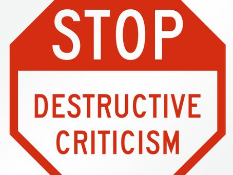 Criticism, Constructive-Criticism, Destructive-Criticism