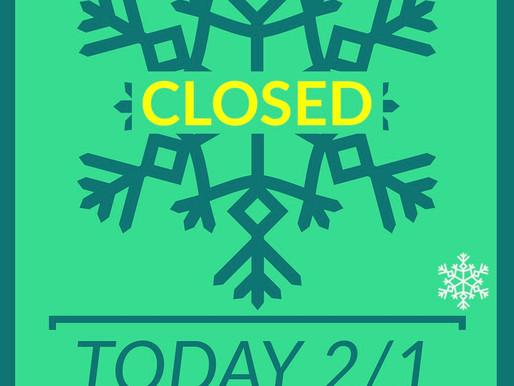 Closed 2/1