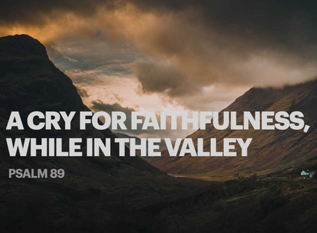 A Cry for Faithfulness While in the Valley