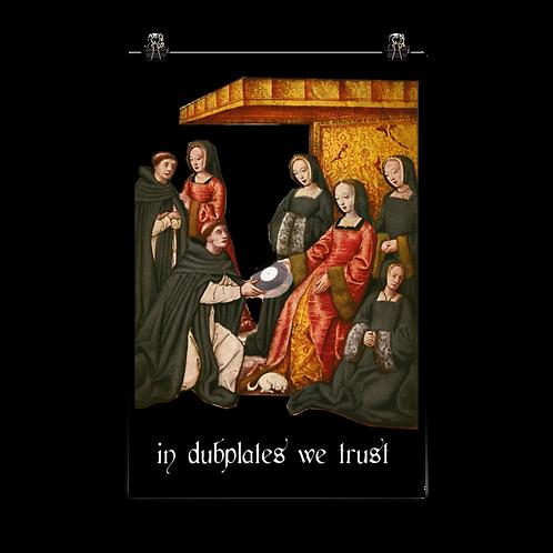 In Dubplates We Trust Poster 70×100 cm