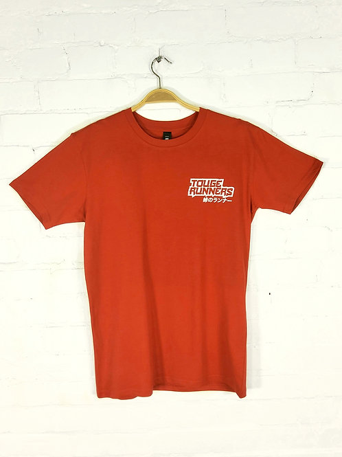 Touge Runners T-shirt red with white logo