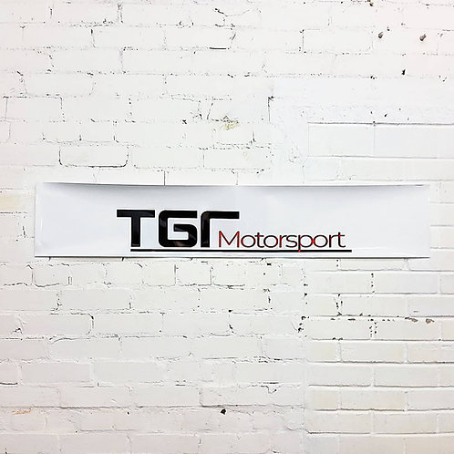 TGR Motorsport sunstrip in white
