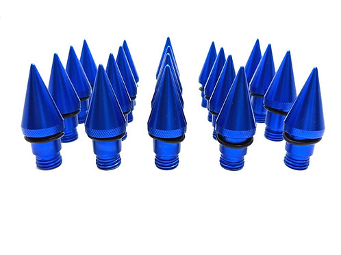 Royal Blue Set Of 20 Aluminium Spiked End Caps