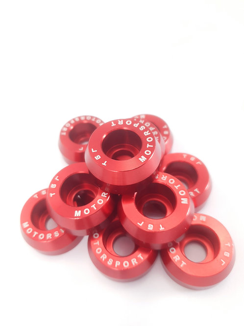 Red  LCA Dressup Washers & Bolts Honda Fitment