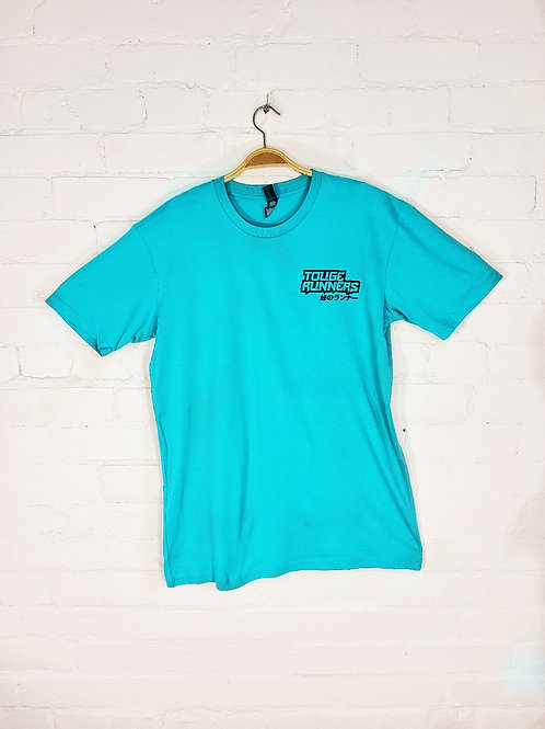 Touge Runners T-shirt teal with black logo