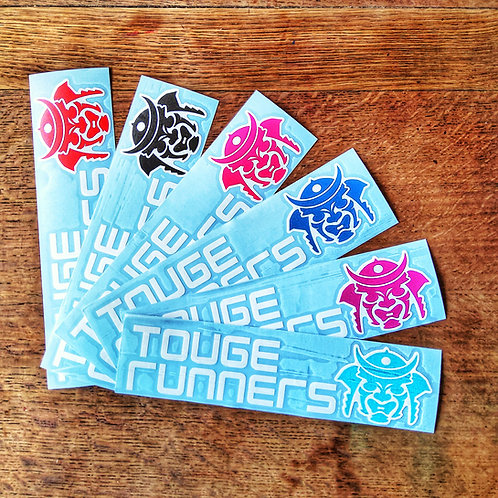 Touge runners samurai sticker 25x6cm