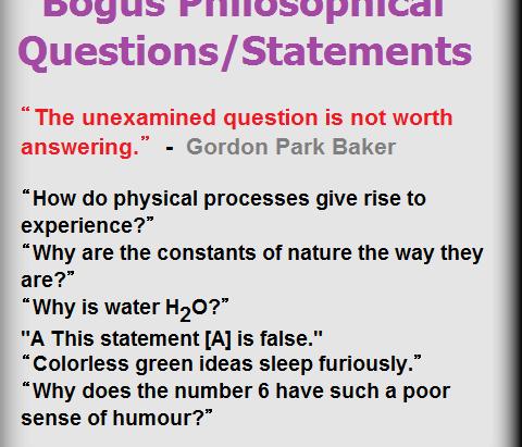 Bogus Philosophical Questions