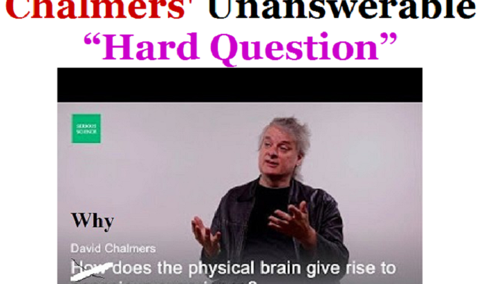 """David Chalmers' Unanswerable """"Hard Question"""" About Consciousness"""