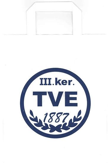 Papírzsacskó TVE címerrel