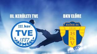 Beharangozó NB III. TVE - BKV ELŐRE