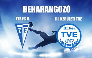 Beharangozó NBIII. ZTE FC II. - III. KERÜLETI TVE