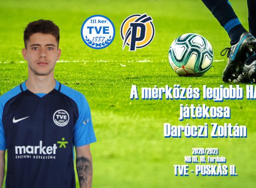 Daróczi Zoltán lett a mérkőzés legjobbja