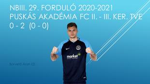 NBIII. 29. PUSKÁS AKADÉMIA FC II. - III. KERÜLETI TVE 0 - 2 (0 - 0)