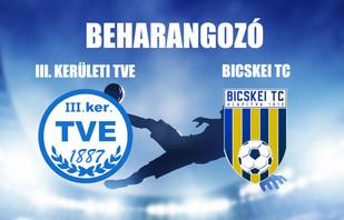 Beharangozó NBIII. III. KER. TVE - BICSKEI TC
