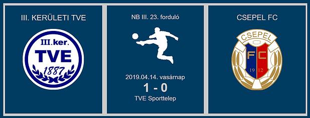 TVE-CSEPEL 1-0