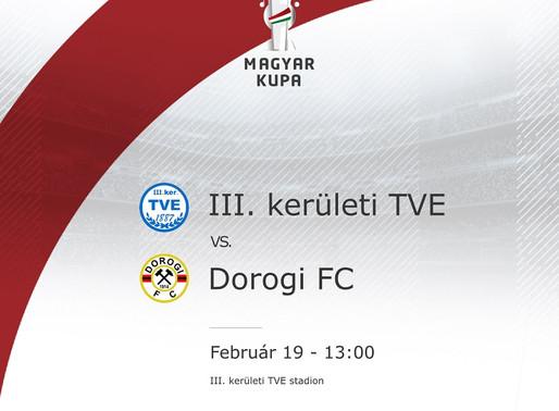 Magyar Kupa III. kerületi TVE - Dorogi FC beharangozó