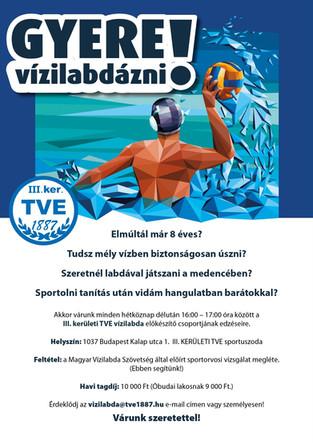 Gyere vízilabdázni a TVE-be!