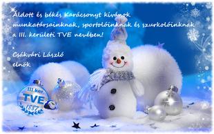 Áldott és békés Karácsonyt!