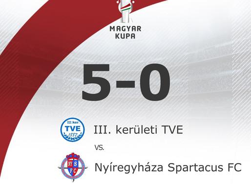 III. KER TVE - NYÍREGYHÁZA SPARTACUS FC 5 - 0 (3 - 0)