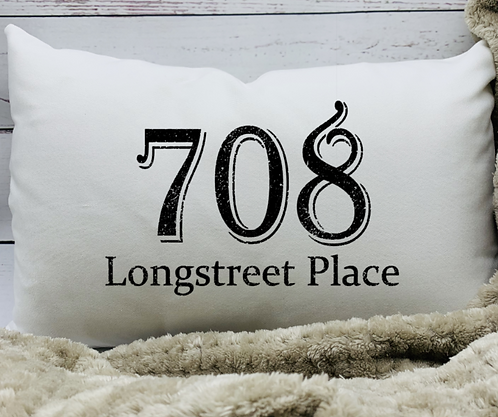 Street Address Pillow