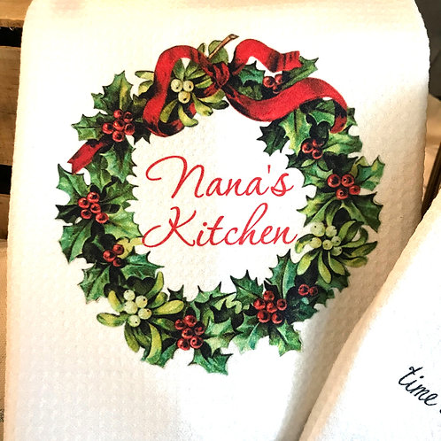 Christmas Wreath Kitchen Towel