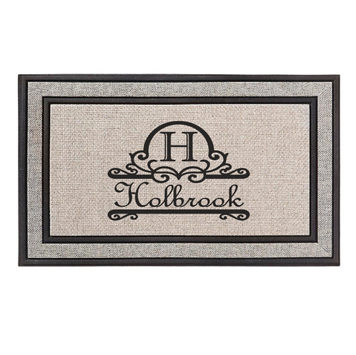 Initial with Name Doormat