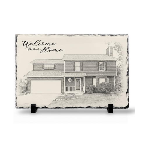 """Welcome to our home"" Slate"
