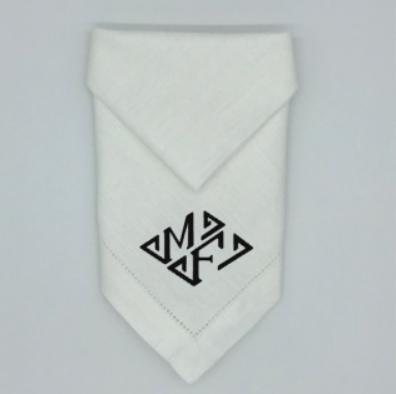 Two Letter Diamond Monogrammed Dinner Napkins