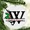 Thumbnail: Holly Letter Monogram Ornament