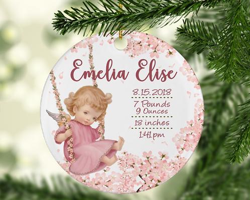 Baby Girl Cherub Ornament