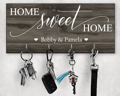 Home Sweet Home Personalized Key Hanger