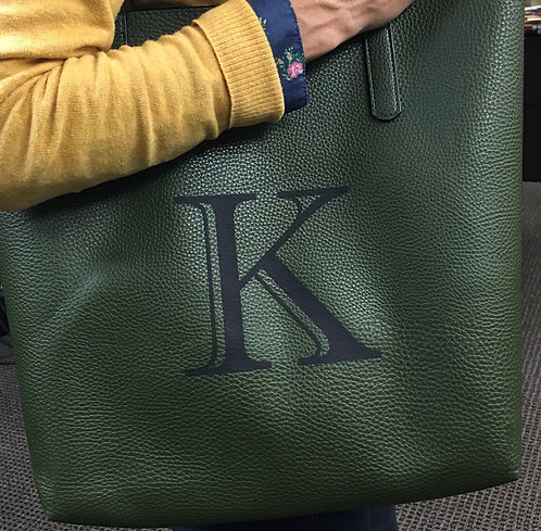 Mossy Green Monogrammed Tote