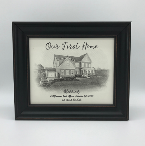 """""""Our First Home"""" Keepsake"""