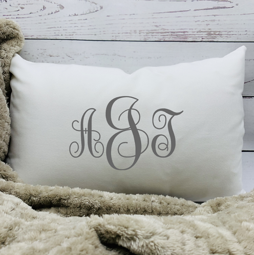 Simple Monogram Pillow